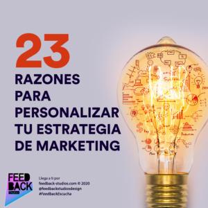 23 razones para personalizar tu estrategia de marketing